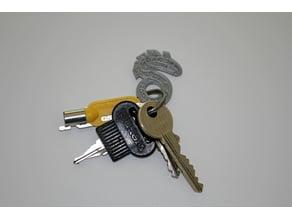 Shadowrun logo key-ring / key-token