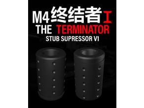 Gel ball m4 Terminator (v1) Stub Supressor