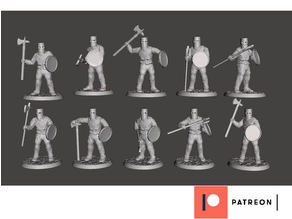 28mm Knight of Serbia - 12th Century Zombie Hunters