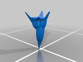 Robotech Zentran or Zentraedi Fighter Pod with Gatlin Equipt