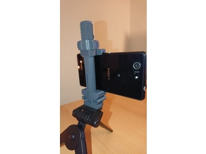 "Universal Phone Tripod Mount with printable 1/4""-20 thread"