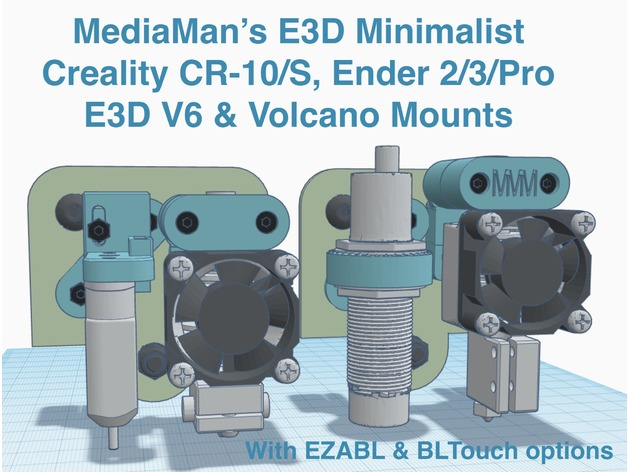 E3D Minimalist for V6 & Volcano on Creality CR10/S Ender 3