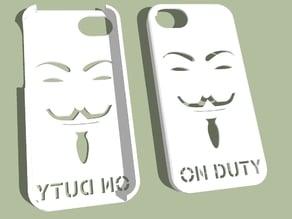 iPhone 5 hard case ''Anon ON DUTY''