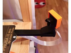 Prusa MK3 camera holder for Raspberry Pi v2 camera