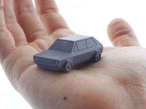 Volkswagen Golf GTI - Low Poly Miniature