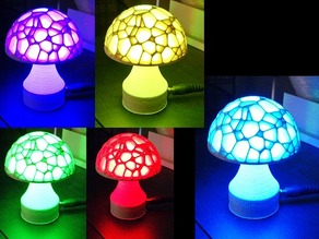 Voronoi Mushroom Lamp w/LED socket
