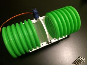 Air duct damper valve 75mm with servo