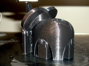 Lucky Elephant Place-card holder with Heart