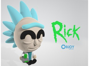 Rick Sanchez Figure & Keychain - by Objoy Creation