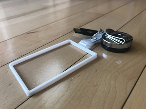 Clean Badge Holder - One Card