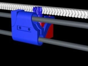 Hugo X axis rack convert - no belt - compact design