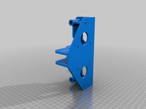 Dual Y rod holder for linear bearings
