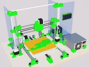 Sub33D v2.06 sub $100 AUD recycled e-waste 3D printer