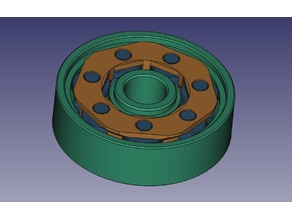 Printer friendly caged roller bearing