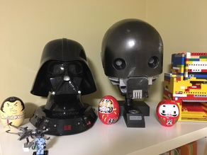 K2SO head and base and LED eyes with pupil