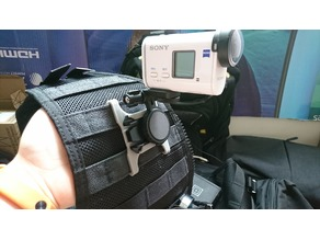 Sony Action Cam molle mount