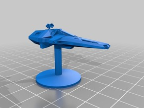 Scorpio (Blakes 7) scaled for Firefly / Tabletop gaming