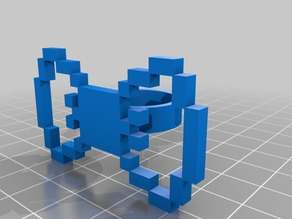 Pixel art ring Bow Ring 60pxl - size 8,5