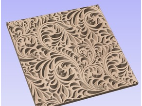 100mm Carved Panel