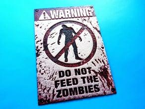 placa Zombies v3 dibujo 3D