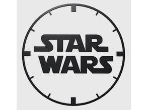 Star Wars Logo Clock Lasercut