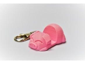 Piggy Phone Stand Keychain