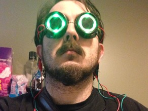 LED insert for steampunk goggles