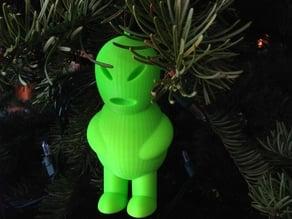 Little Green Man Christmas Ornament
