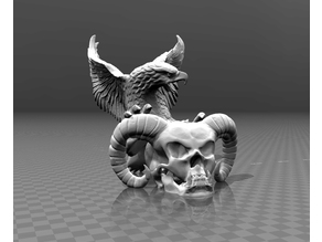 Devil skull & Eagle