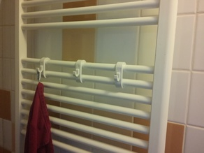 Customizable radiator towel hook