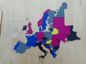 Europe Map puzzle with Great Britain