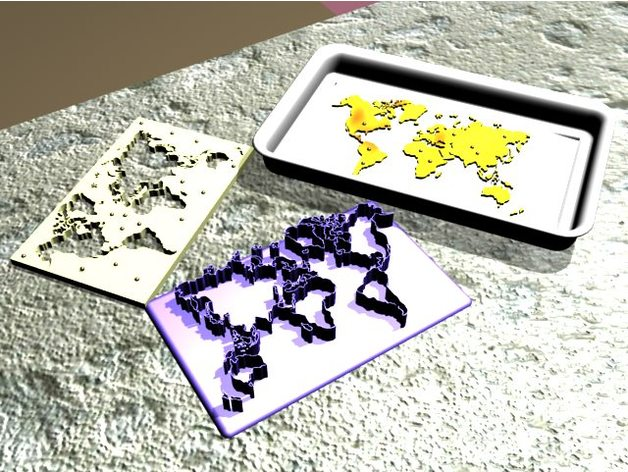 World Map Cookie Cutter [DMcG] by gnamp - Thingiverse on