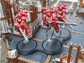 Miniature Wargame Movement Tray (40mm, 3 slots)