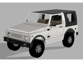 Suzuki SJ 410 Body / Karosserie 1/9 SCX10 Chassis