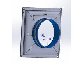 Adaptateur gaine aération ventilation caisson etc.