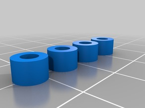 4mm round spacer set