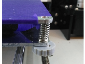 Wing Nut Grip for M3 screws (e.g. Anet A8 bed level screws)
