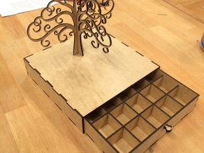 Jewelry box with earring tree