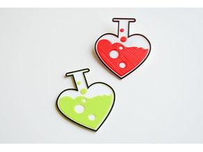 Love chemistry brooch/pin