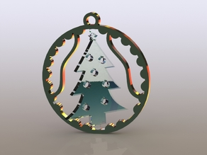 Christmas Tree Spinning Ordainment