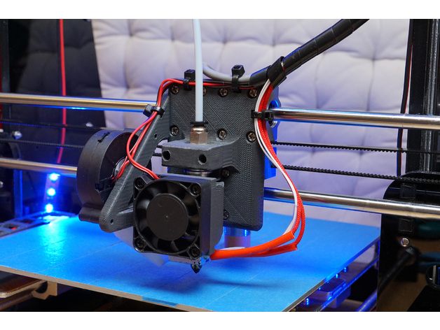 Anet A8 Customizable E3d V6 Carriage Bowden Mount By