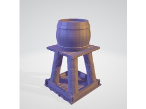 Basic wooden water tower for wargaming/RPGs