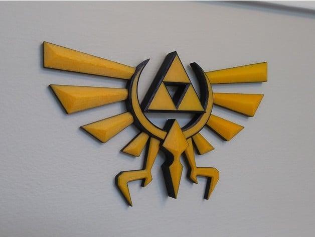 Hyrule Triforce Wingcrest - Legend of Zelda by IanHoolihan