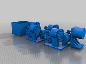 Printed Machine with Concrete Customized for Gear Bearing