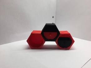 Genie box, stackable, screwable fully modifiable polygon storage box.