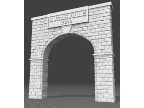 Single Track Stone Tunnel Portal for O Scale Model Trains