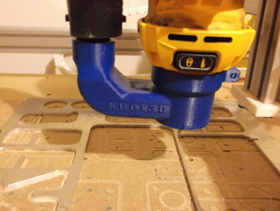 dewalt dw660 vacuum attachment for shapeoko  cnc spindle