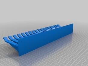 Customizable OpenSCAD Wire Holder, Kabelkamm