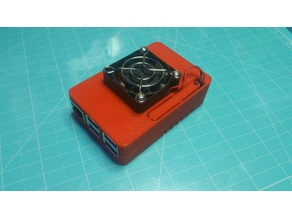 Raspberry Pi Snap together case with 40mm fan mount