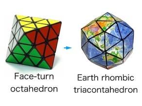 Earth rhombic triacontahedron puzzle